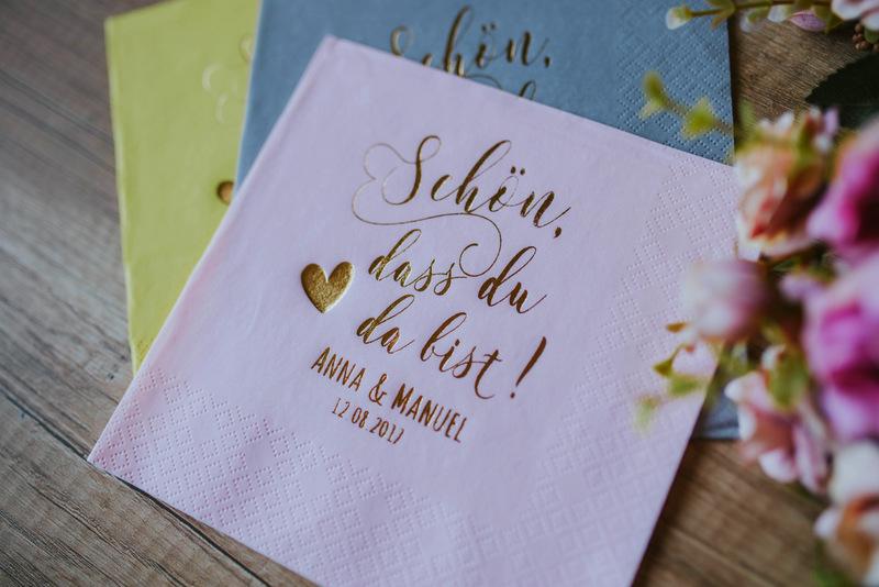 Bedruckte Servietten Hochzeit 20 Decorpress Personalisiere