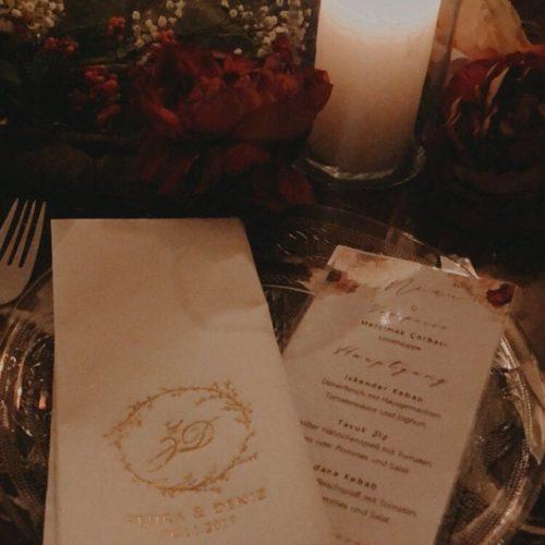 Bedruckte Servietten mit Namen - Hochzeit 106 photo review