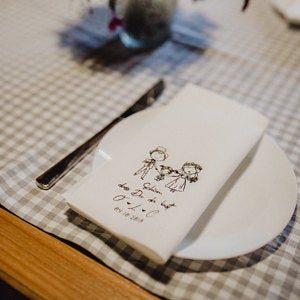 Servietten Hochzeit - mit Namen - Logo - 88 photo review