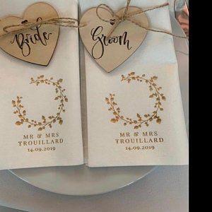 Personalisierte Servietten Hochzeit- Birkenkranz - Logo - 94 photo review