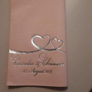Servietten Hochzeit - mit Namen - Logo - 72 photo review