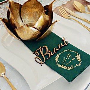 Servietten Hochzeit - mit Namen - Logo - 76 photo review