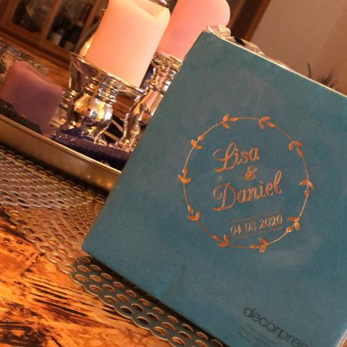 Personalisierte Servietten - Hochzeit 24 photo review